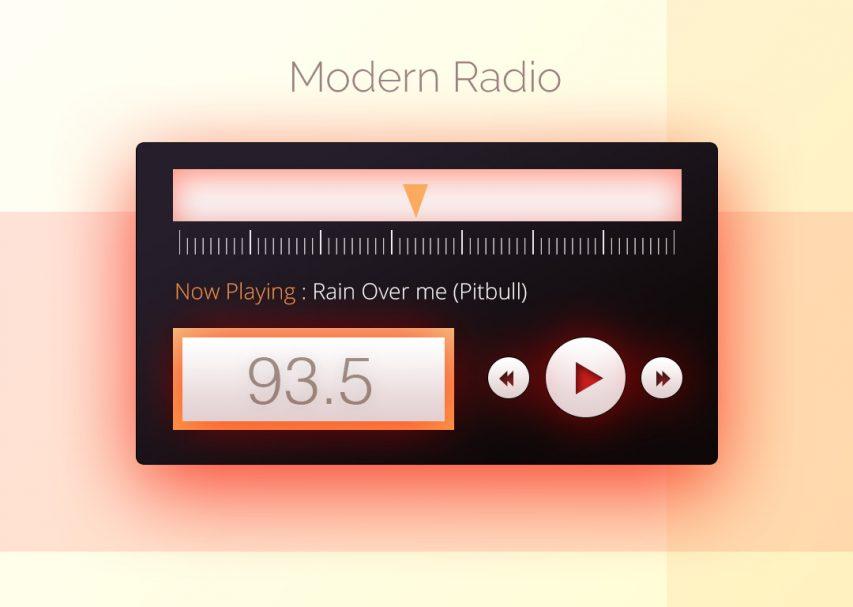 Modern Radio Widget UI Free