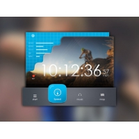 Speed Tracker UI Widget Free