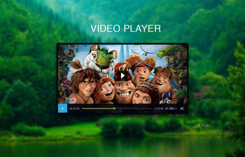 Black Video Player UI Free