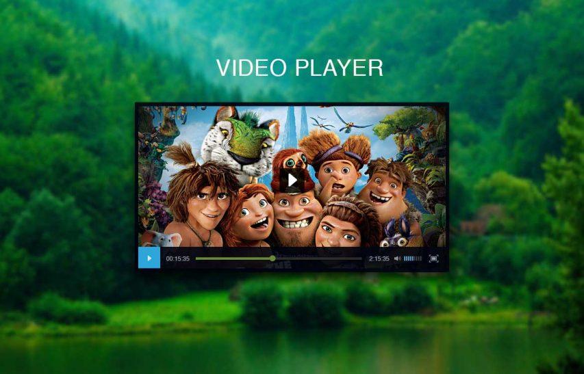 Black Video Player UI Free