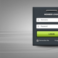 Member-Login Form Panel UI Free