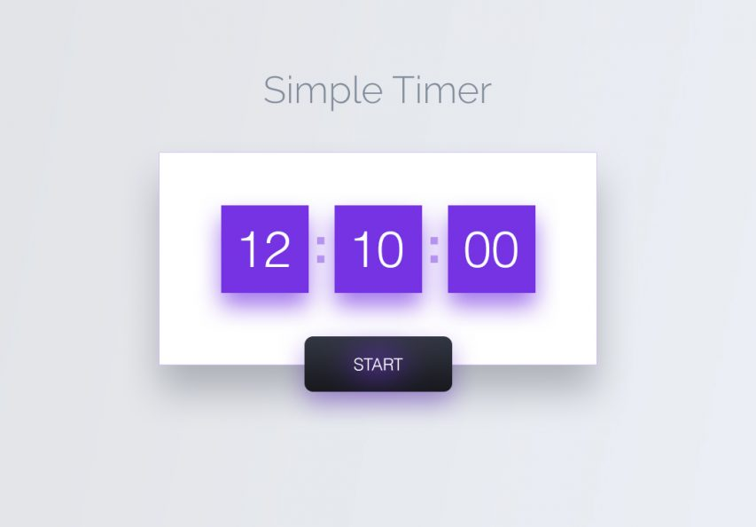 Simple Timer Widget UI Free
