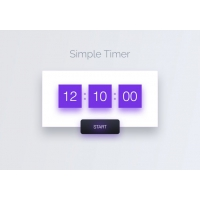 Simple Timer Widget UI Free