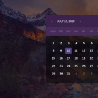 Transparent Calendar Dark UI Free