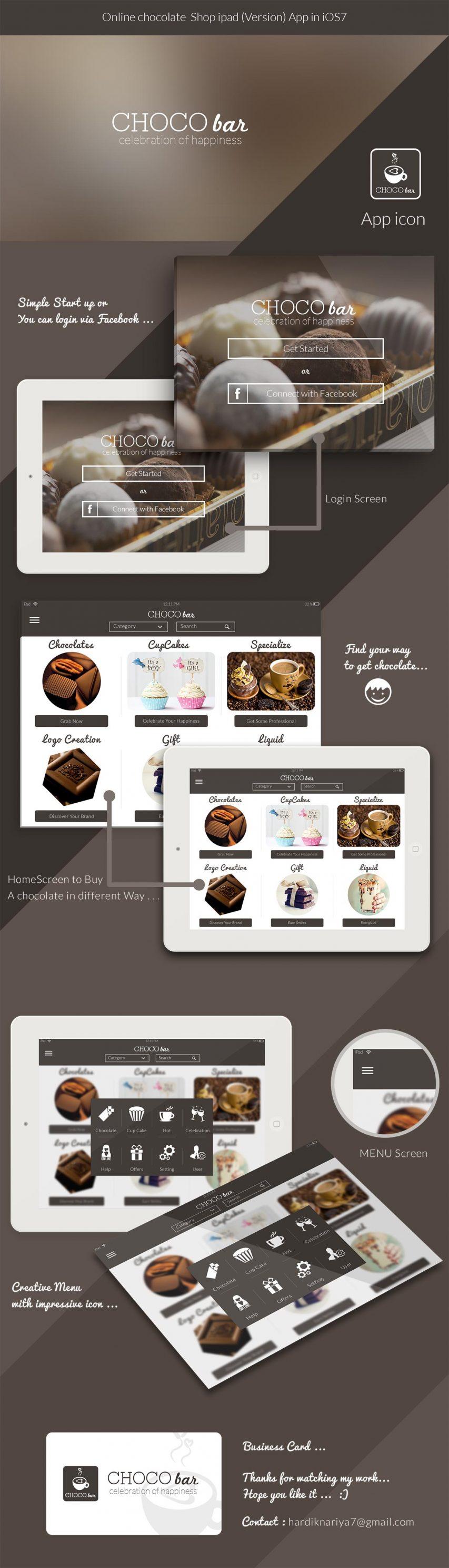 Bakery Store iPad App UI Kit Free