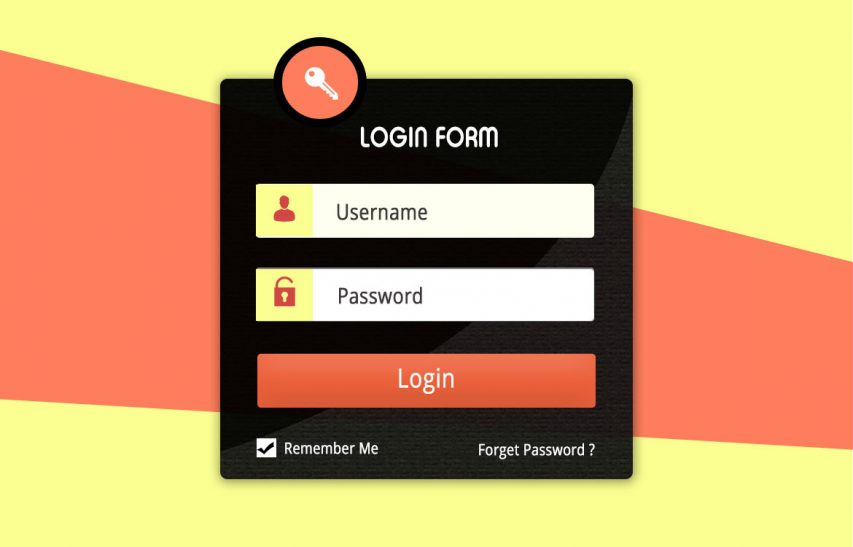 User Account Login Form UI Kit Free