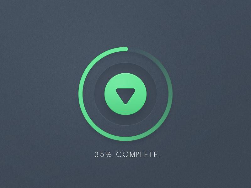 Download Progress Button UI Free