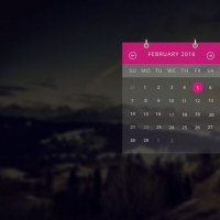 Transparent Calendar Widget UI Free