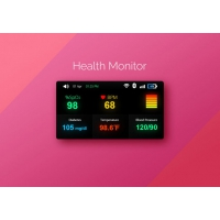 Health Monitor Widget UI Free