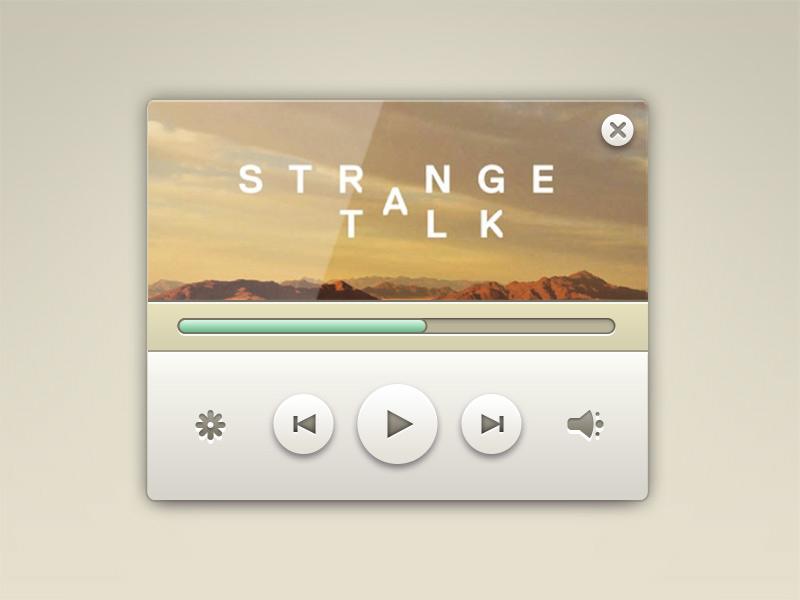 Elegant Music Player Widget Free