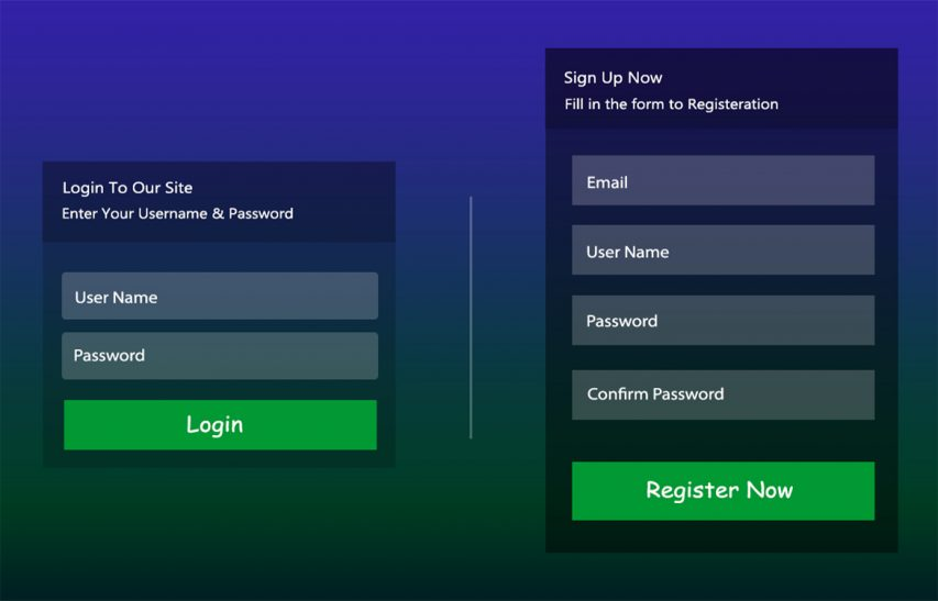 Signup Login Form UI Kit Free