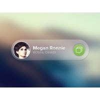 Translucent Message Notification UI Free