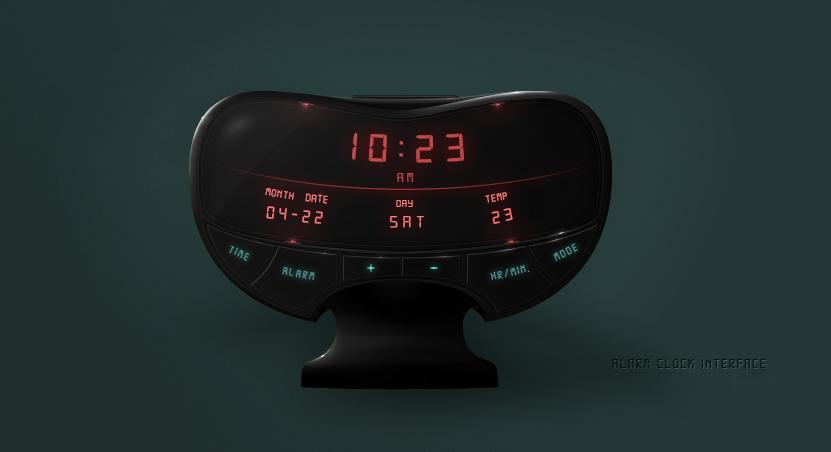 Alarm Clock User Interface Widget Free