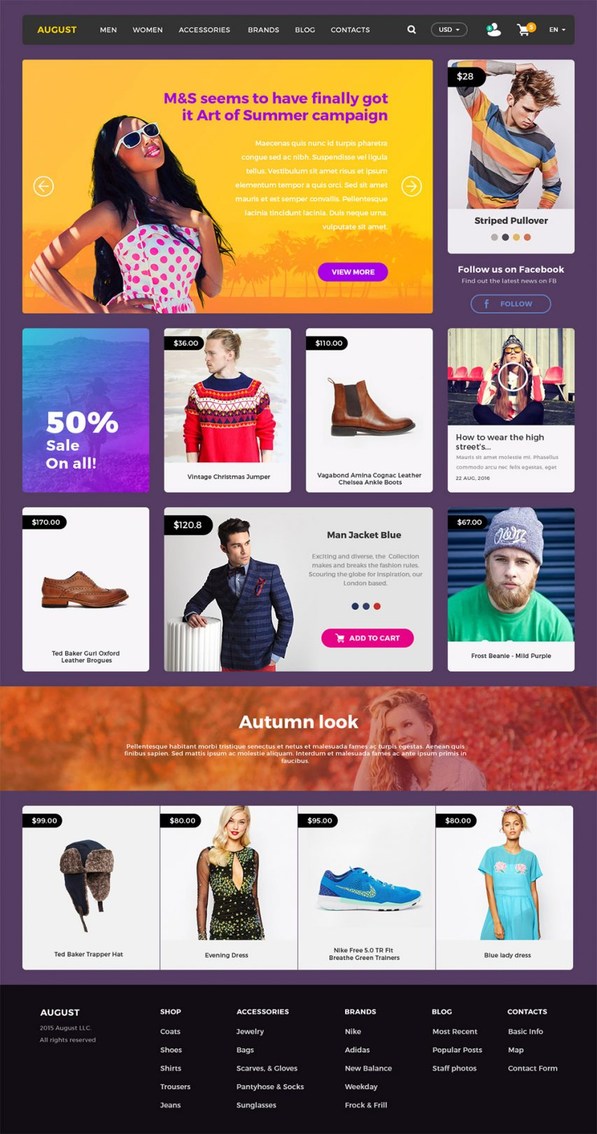 Online Shopping eCommerce Website UI Kit Free
