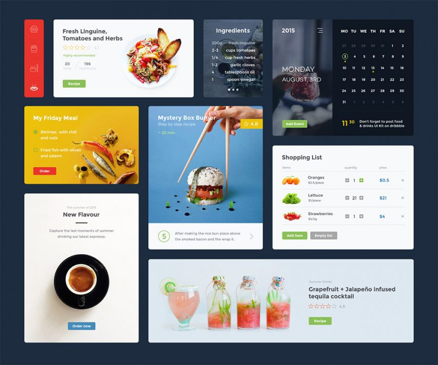 Restaurant App Widgets UI Kit Free