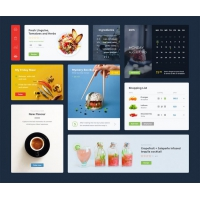 Restaurant App Widgets UI Kit Free