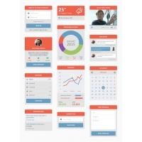 Simple Flat Widgets UI Kit Free