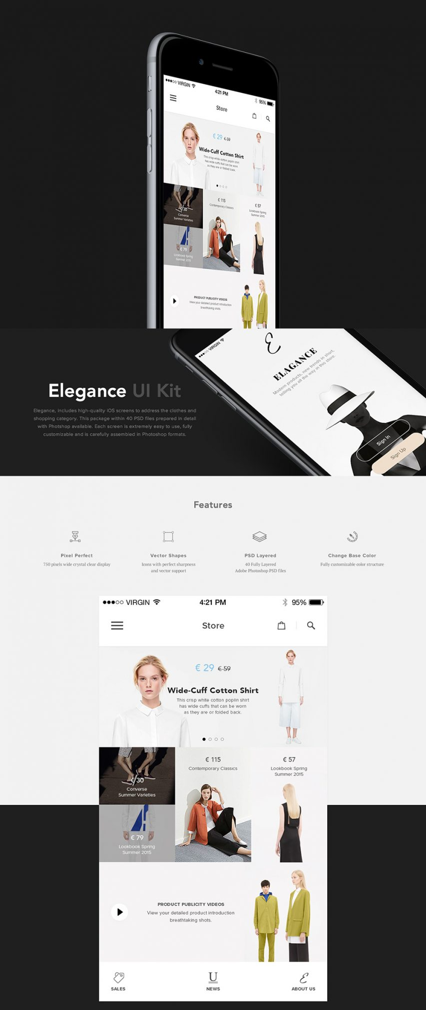 Fashion eCommerce Shopping App UI Kit Free