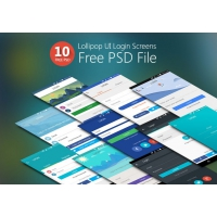Lollipop UI Login Screens Free PSD