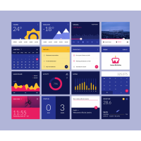 Material Design Widgets PSD UI Kit