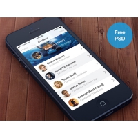 Creative iOS7 Contacts App Interface