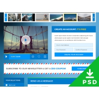 Traveling Website UI Kit PSD