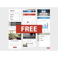 Clean Mobile UI Design PSD Freebie
