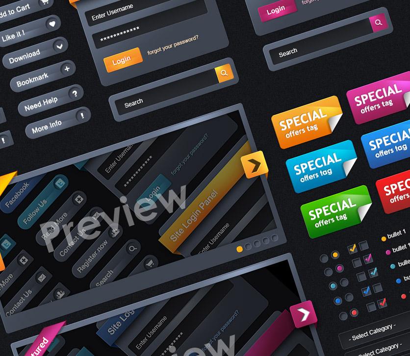Color Web Elements UI