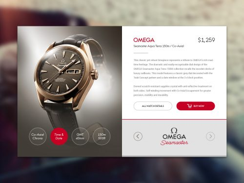 Watch Widget Free PSD UI