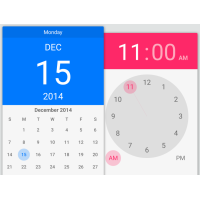 Calendar and Time Android Lollipop Widget