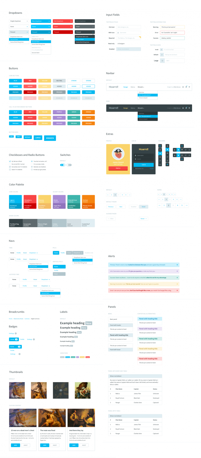 Flat Style Bootstrap Components UI Kit
