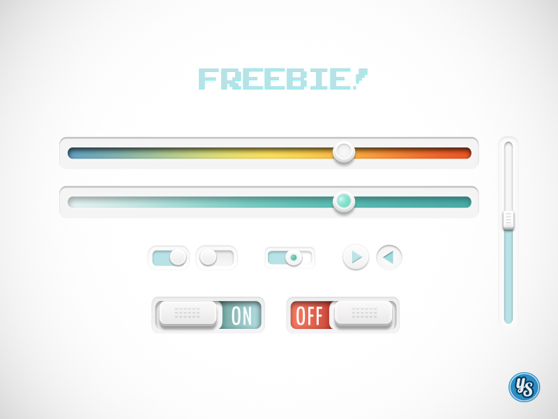 Switches and Sliders UI PSD