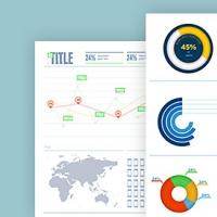 Simplistic Infographic Chart Templates PSD
