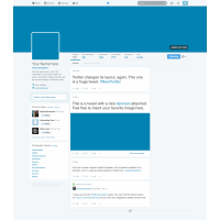 Twitter 2014 GUI New Profile Design PSD