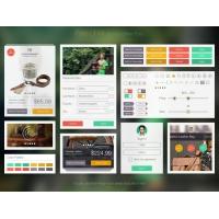 Flat iOS eCommerce Web UI Elements Kit