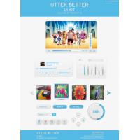 Utter Butter Web UI Elements Kit PSD