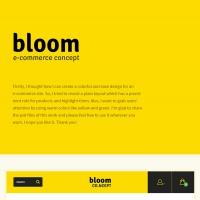 Flat eCommerce Theme Concept PSD