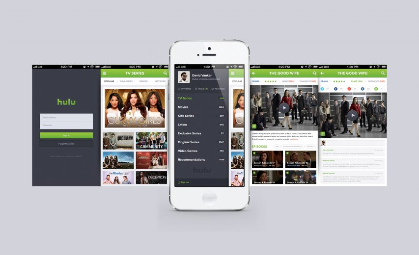 Hulu iPhone App reDesign Free PSD