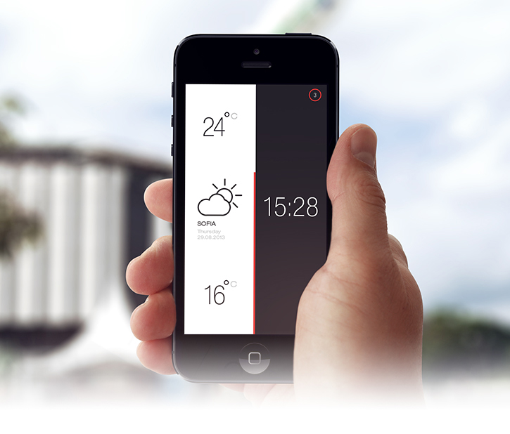 Weather and Time Application PSD