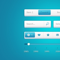 Stacked Paper Navigation UI Kit PSD