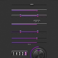 Purple Web UI Elements Kit PSD