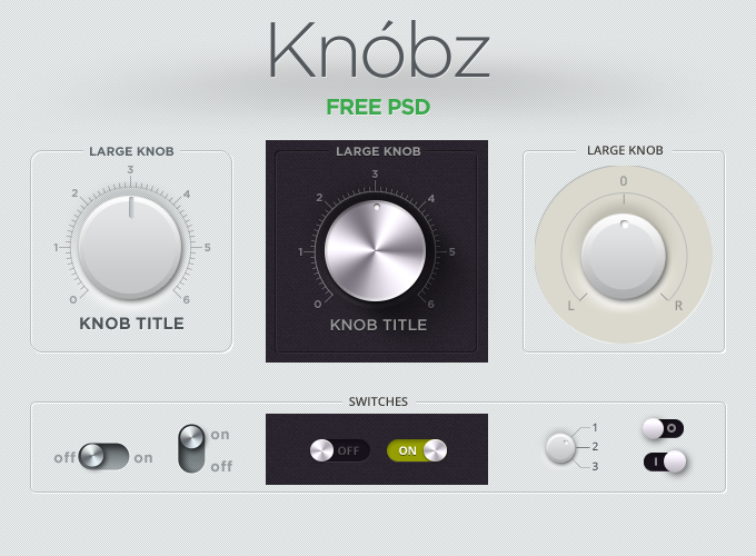 Knobz UI Kit Free