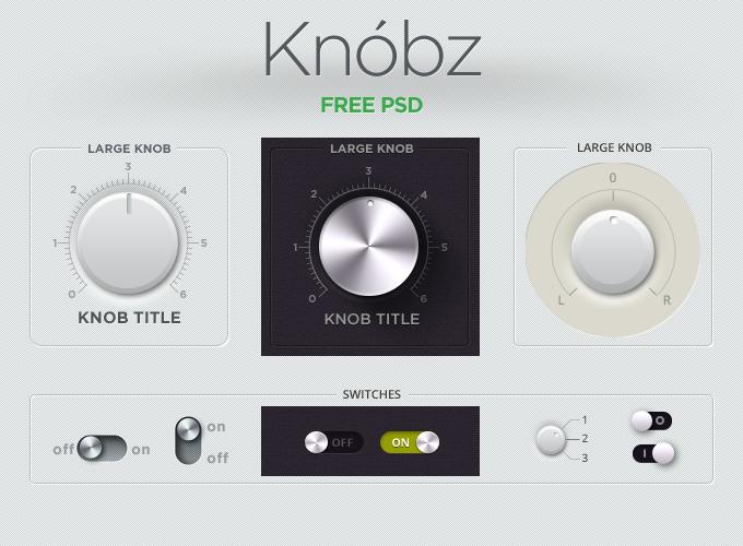 Knobz UI Kit Free