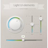 Light UI Controls PSD File