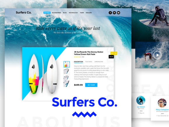 Surfers Co. – A Bootstrap-Ready PSD