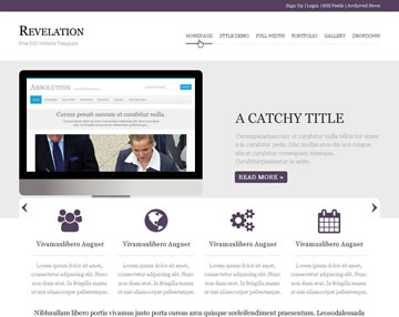 Revelation Free PSD Website Template