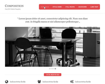 Composition Free PSD Website Template