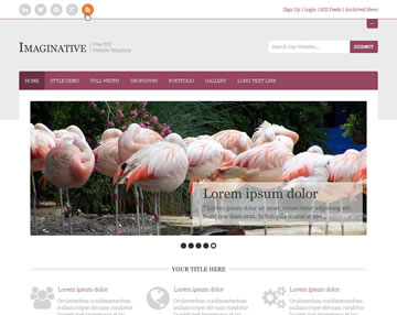 Imaginative Free PSD Website Template