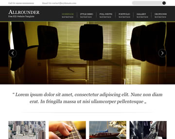 Allrounder Free PSD Website Template