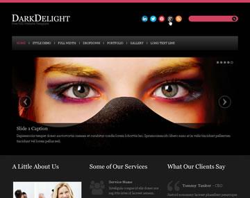 DarkDelight Free PSD Website Template